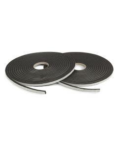 Nortonband 3x9 svart 30m/rulle