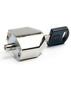 Lås till skjutpartier WL 237, m. skruv o nyckel