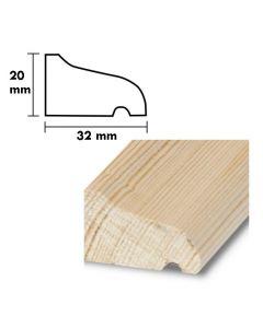 Droppnäsa typ 5  D=32  H=20,  L=1,8 m PROFILERAD