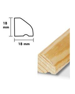 Droppnäsa typ 3  D=18, H=18,  L=1,8 m