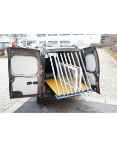 Transportställ fönster för montage i bil