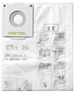 Festool Dammpåse CTH 26 3-Pack Dubbelskiktad